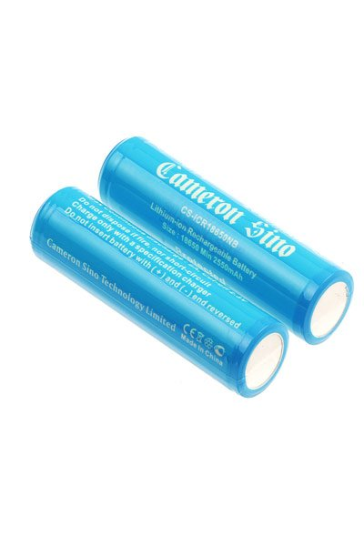2x 18650 battery (2600 mAh, Rechargeable)