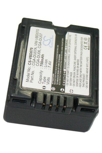 NV-GS250EG-S Battery NV-GS230E-S NV-GS250 750mAh Replacement for Panasonic NV-GS230EG-S NV-GS250B CGA-DU06S CGA-DU06A//1B P//N CGA-DU06