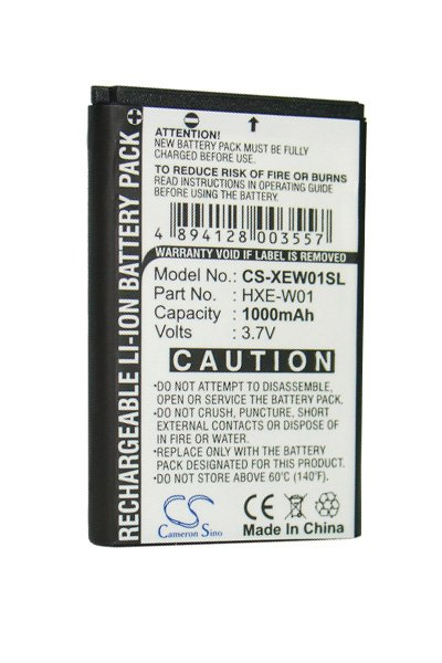 1000 mAh battery (Black)