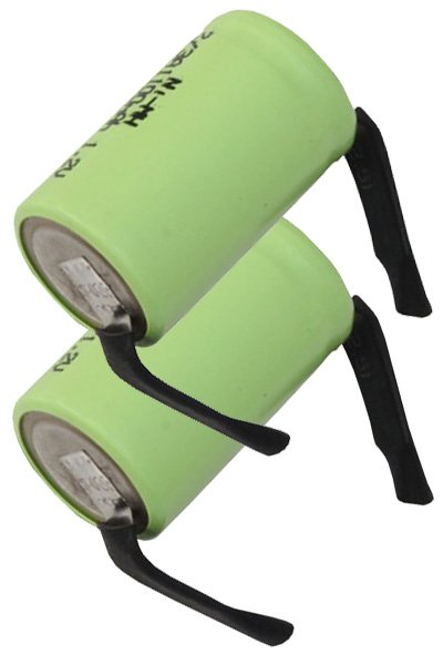 2x A23 battery with solder tabs (1100 mAh, Rechargeable)