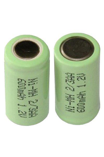 2x 2/3 AA batterij (1000 mAh, Oplaadbaar)
