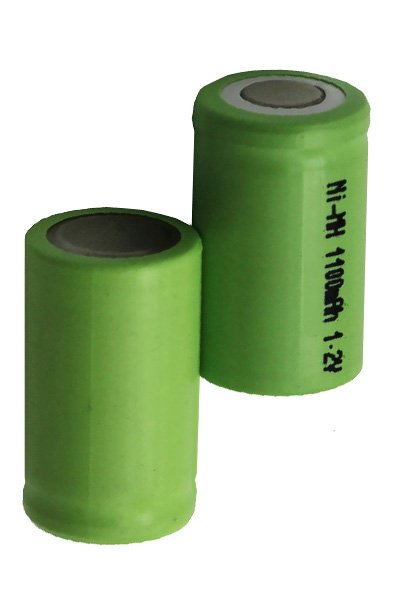 2x 2/3A battery (1100 mAh, Rechargeable)