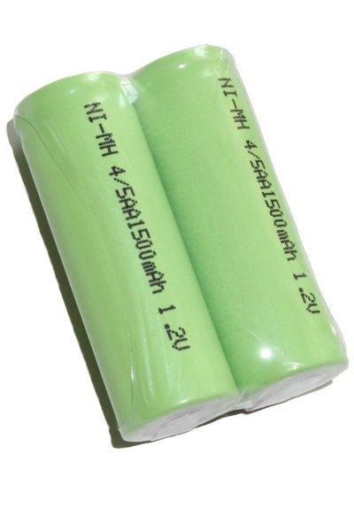2x 4/5 AA batterij met soldeerlippen (1500 mAh, Oplaadbaar)