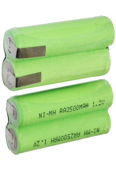 2x AA Batterien in Serien, mit Anschlussstellen (2500 mAh, Wiederaufladbar)