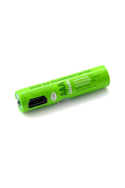 4x AAA battery (400 mAh, USB Rechargeable)