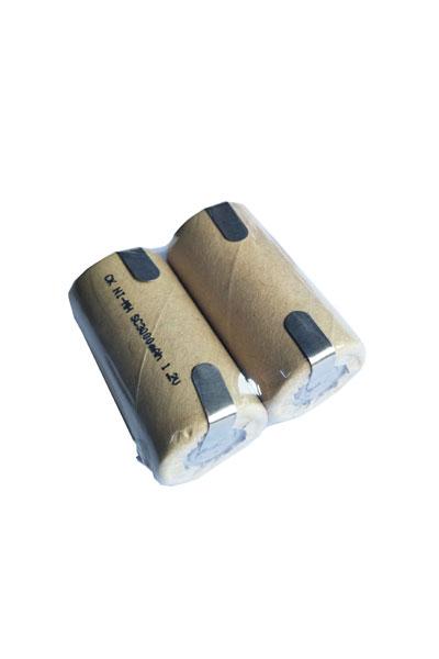 2x Sub-C batterij met soldeerlippen (3000 mAh, Oplaadbaar)