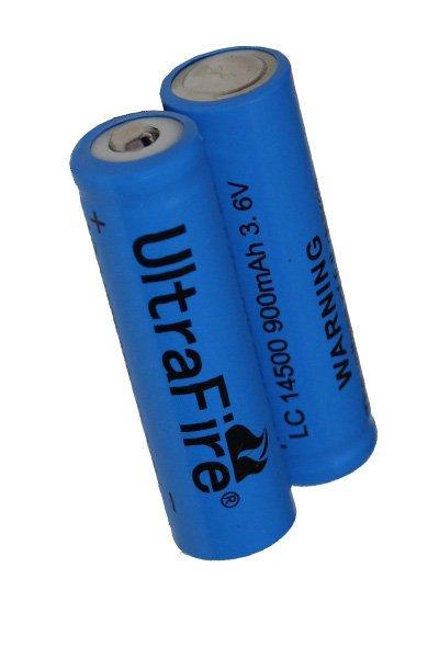UltraFire 2x 14500 batería (1200 mAh, Recargable)