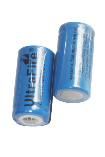 UltraFire 2x 16340 battery (1000 mAh, Rechargeable)