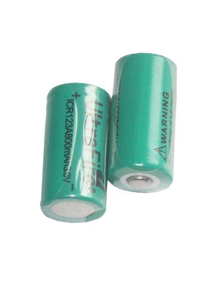 UltraFire 2x 16340 batería (800 mAh, Recargable)