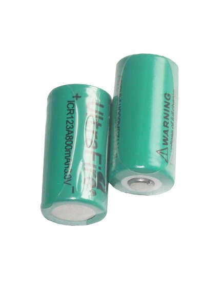 UltraFire 2x 16340 baterija (800 mAh, Pakraunama)