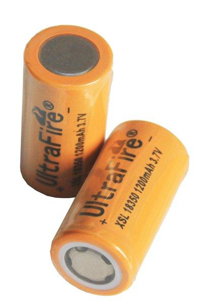 UltraFire 2x 18350 battery (1200 mAh, Rechargeable)
