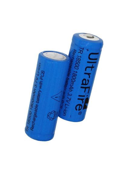 UltraFire 2x 18500 batería (1800 mAh, Recargable)