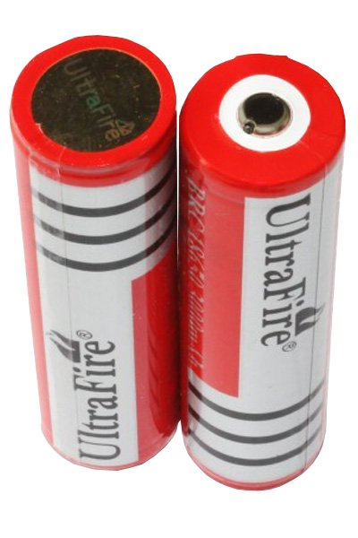 UltraFire 2x 18650 batterie (3000 mAh, Rechargeable)