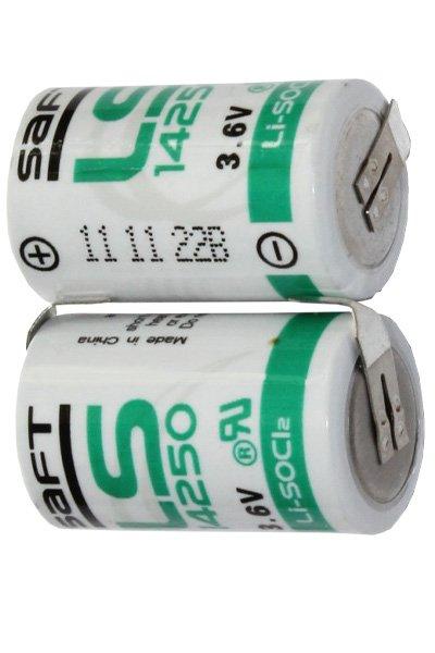 Saft 2x 1/2 AA batterij met soldeerlippen