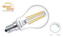 Lustre clear filament dimmable warmglow