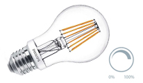 Pear filament dimmable