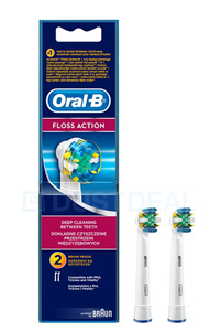 Oral-B Floss Action Tannbørte (2 stk)