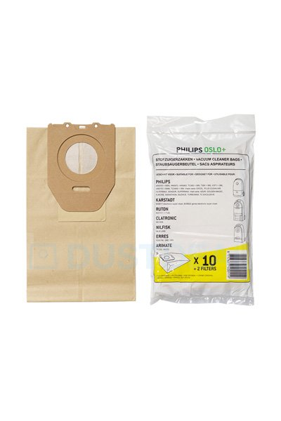 10 x PHILIPS Oslo /& Oslo+ Vac Bags To Fit: 852 Turbomax 889 HR6300 to HR6385