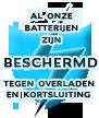 Al onze batterijen zijn beschermd tegen overladen en kortsluiting