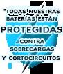 Todas nuestras baterías están protegidas contra sobrecargas y cortocircuitos