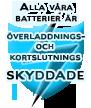 Alla våra batterier är överladdnings- och kortslutningsskyddade