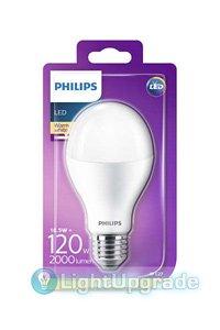 E27 LED lampen 18.5W (120W) (Birne, Mattiert)