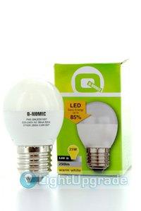 Q-Nomic E27 LED lampen 3.6W (25W) (Birne, Mattiert)