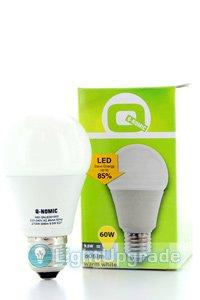 Q-Nomic E27 LED lampen 9.5W (60W) (Birne, Mattiert)